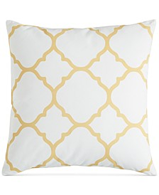 """Geometric 18"""" Square Decorative Pillow, Created for Macy's"""