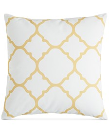 """Charter Club Damask Designs Geometric 18"""" Square Decorative Pillow, Created for Macy's"""