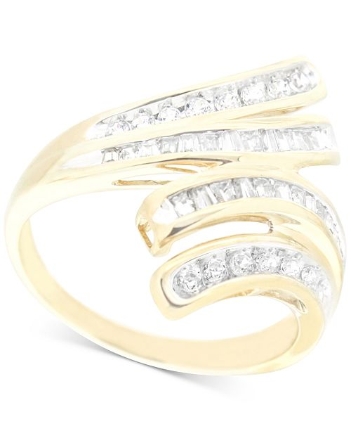 Wrapped in Love Diamond Wave Ring (1/2 ct. t.w.) in 10k Gold, Created for Macy's