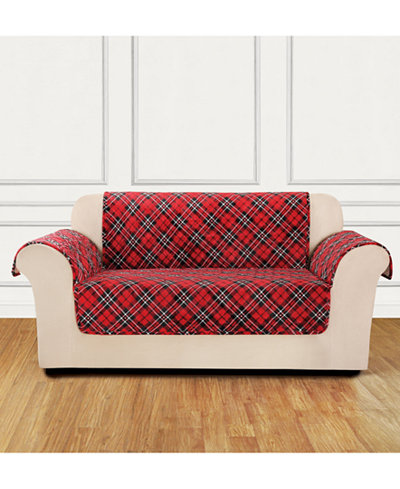 CLOSEOUT! Sure Fit Holiday Motifs Quilted Loveseat Slipcover