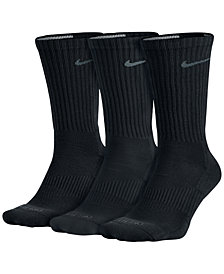 Nike Men's Socks, 3 Pair Pack Dri Fit Crew