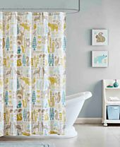 Ink+Ivy Kids Woodland Printed Cotton Shower Curtain