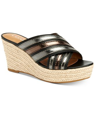 COACH Florentine Espadrille Wedge Sandals