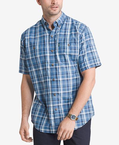 G h bass co men 39 s plaid explorer fishing shirt for Button down fishing shirts