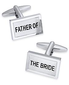 Sutton by Rhona Sutton Men's Silver-Tone Father of the Bride Cuff Links