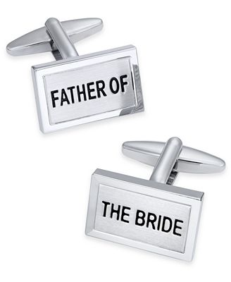 Sutton by Rhona Sutton Men's Silver-Tone Father of the Bride Cuff Links