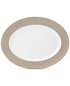Lismore Diamond Gold Collection Oval Platter