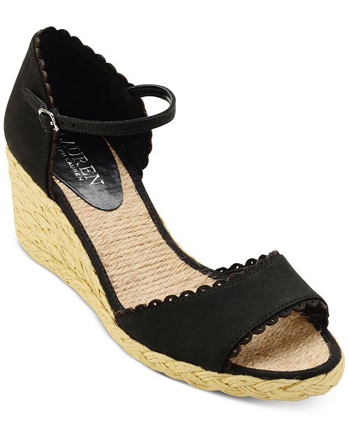 7e0403bc5790 Lauren Ralph Lauren Chrissie Wedge Sandals & Reviews - Sandals ...