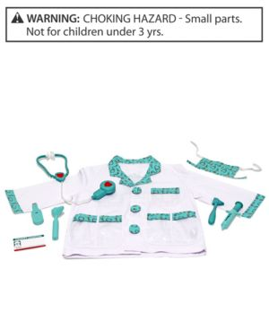 Melissa & Doug Kids Costume, Doctor Role Play Costume Set