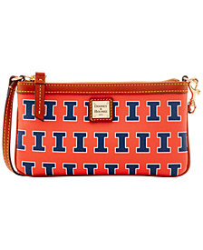 Dooney & Bourke Illinois Fighting Illini Large Slim Wristlet