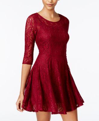 fishbowl lace illusion aline dress
