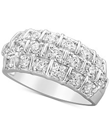 diamond anniversary band 1 ct tw in 14k white gold - Wedding Ring Bands