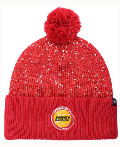 '47 Brand Women's Houston Rockets Hardwood Classics Glint Knit Hat