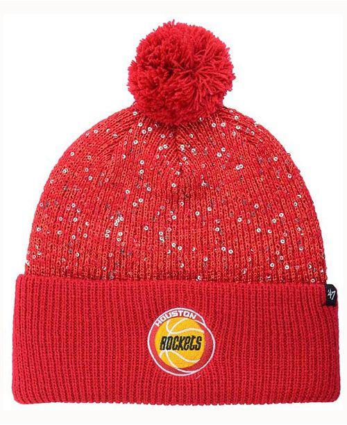 '47 Brand Women's Houston Rockets Hardwood Classics Glint Knit Hat