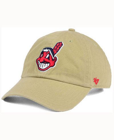 '47 Brand Cleveland Indians Khaki CLEAN UP Cap