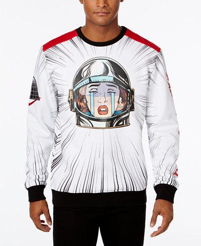 Black Pyramid Men's Crying Astronaut Graphic-Print Sweatshirt