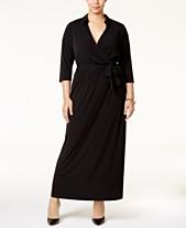 f2d807cc213 NY Collection Plus Size Faux-Wrap Maxi Dress