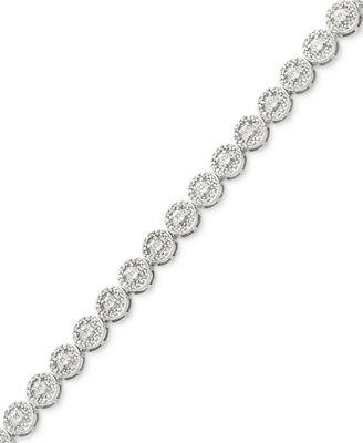 Diamond Miracle Plate Tennis Bracelet 1 2 ct t w in Sterling