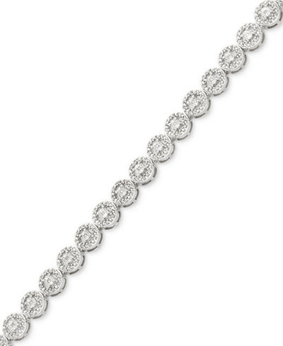 Diamond Miracle Plate Tennis Bracelet (1/2 ct. t.w.) in Sterling Silver