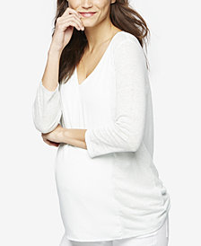 A Pea In The Pod Maternity Linen Top