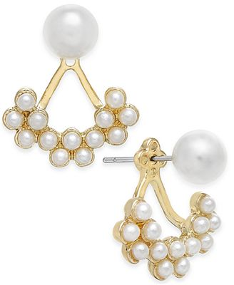 Catherine Stein for INC International Concepts Gold-Tone Imitation Pearl Earring Jackets, Created for Macy's