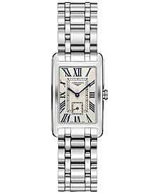 Longines Women's Swiss Dolcevita Stainless Steel Bracelet Watch 23x37mm L55124716