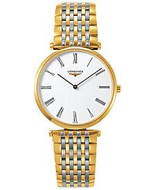 Longines Unisex Swiss La Grande Classique De Longines Two-Tone Stainless Steel Bracelet Watch 36mm L47552117