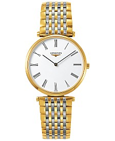 Longines Unisex Swiss La Grande Classique De Longines Two-Tone Stainless Steel Bracelet Watch 36mm L47552117