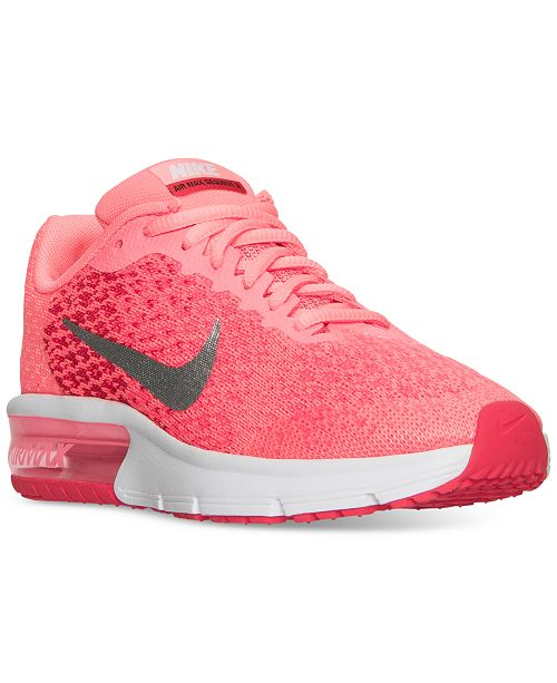 7bf8738277 Nike Big Girls' Air Max Sequent 2 Running Sneakers from Finish Line ...
