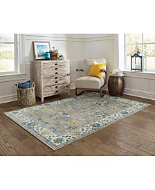 "CLOSEOUT! JHB Design Vibe Isfahan Gray 7'10"" x 10'10"" Area Rug"