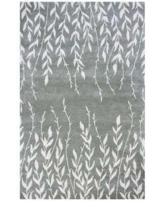 """Bob Mackie Home 1005 Silver Tranquility 7'6"""" Round Rug"""