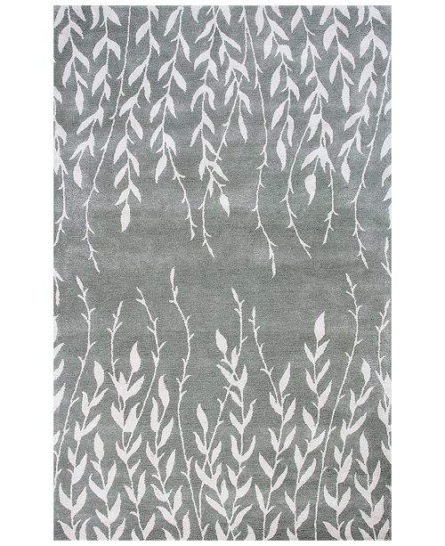 "Kas CLOSEOUT! Bob Mackie Home 1005 Silver Tranquility 2'6"" x 8' Runner Rug"