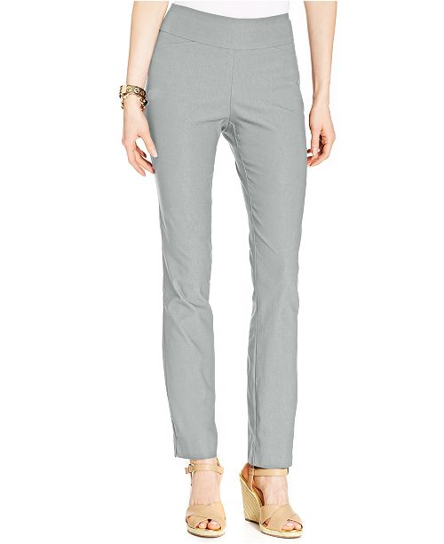 c1cd8eefdcfe2 ... Charter Club Petite Cambridge Tummy-Control Slim-Leg Pants