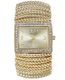 Charter Club Gold-Tone Stretch Bracelet Watch 30x34mm, Created for Macy's