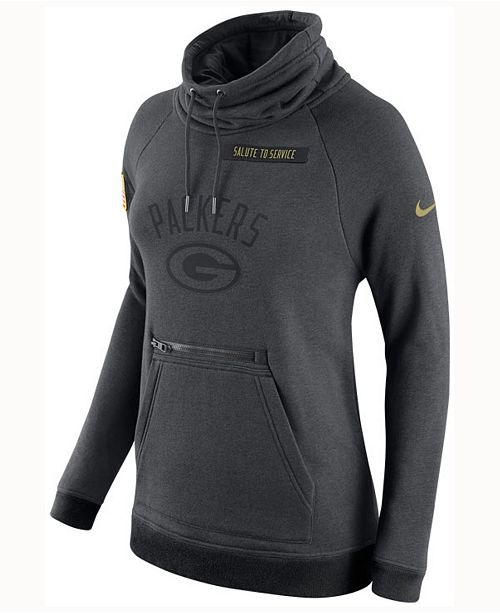 quality design f295b 90b70 Nike Women's Green Bay Packers Salute to Service Hoodie ...