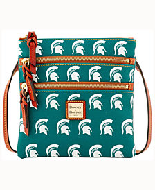 Dooney & Bourke Michigan State Spartans Triple-Zip Crossbody Bag