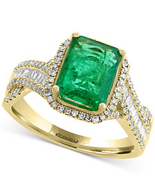 EFFY® Brasilica Emerald (2-1/5 ct. t.w.) and Diamond (1/2 ct. t.w.) Ring in 14k Gold