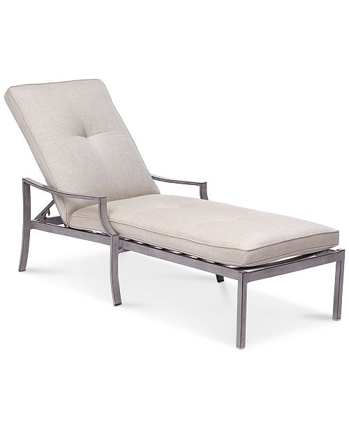 Surprising Wayland Outdoor Chaise Lounge With Sunbrella Cushion Created For Macys Inzonedesignstudio Interior Chair Design Inzonedesignstudiocom
