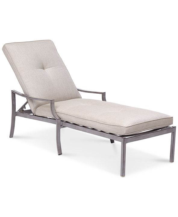 Furniture Wayland Outdoor Chaise Lounge with Sunbrella® Cushion, Created for Macy's