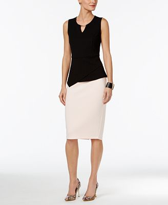 Thalia Sodi Asymmetrical Hardware Top & Pencil Skirt, Only at Macy's