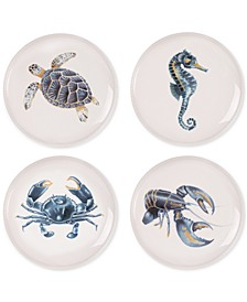 Cape Coral Collection 4-Pc. Assorted Accent Plate Set