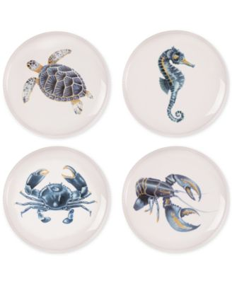 Fitz and Floyd Cape Coral Collection 4-Pc. Assorted Accent Plate Set  sc 1 st  Macy\u0027s & Fitz And Floyd Dinnerware - Macy\u0027s