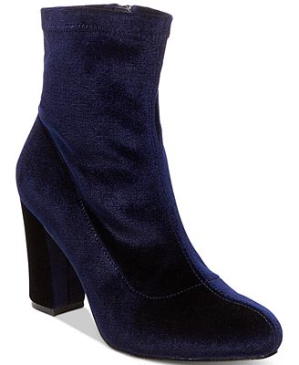Madden Girl Fantaysa Block Heel Booties