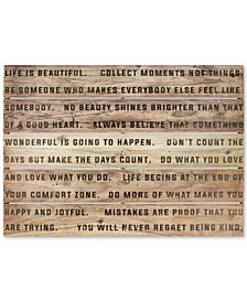 Life Is Beautiful Print on Wood