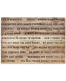Graham & Brown Life Is Beautiful Print on Wood