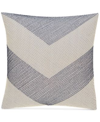 "CLOSEOUT!  Waffle Weave Chambray 18"" Square Decorative Pillow, Created for Macy's"