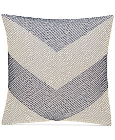 "CLOSEOUT! Hotel Collection  Waffle Weave Chambray 18"" Square Decorative Pillow, Created for Macy's"