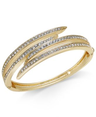Image of Charter Club Gold-Tone Crystal Multi-Row Bracelet, Only at Macy's