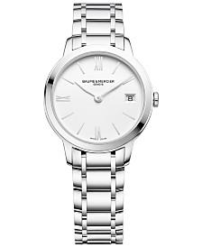 Baume & Mercier Women's Swiss Classima Stainless Steel Bracelet Watch 31mm M0A10335