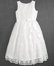 Blush by Embroidered Communion Dress, Little Girls